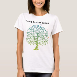 Camiseta Economia-Algum-Árvores