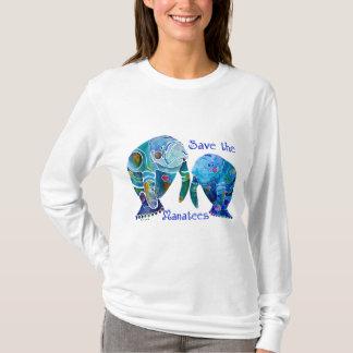 Camiseta Economias de Florida os peixes-boi em azuis