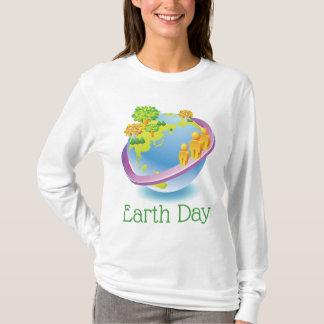 Camiseta Economias do ✿ do Dia da Terra o planeta