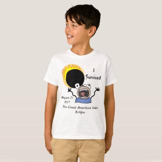 Camiseta Edição da sobrevivência do eclipse 2017 solar