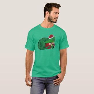 Camiseta Edição do Natal do dragão verde