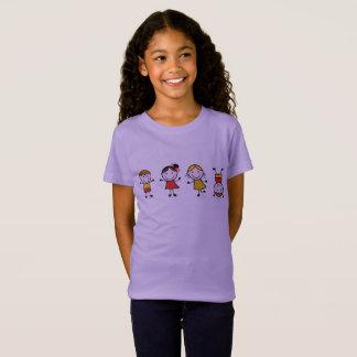 Camiseta Edição do t-shirt dos desenhistas com figuras do