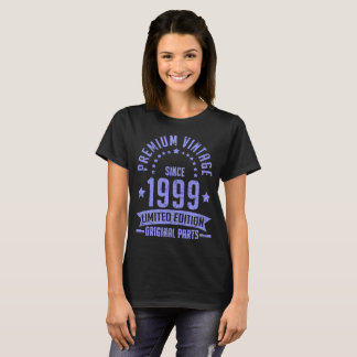 Camiseta edição limitada superior do vintage desde 1999
