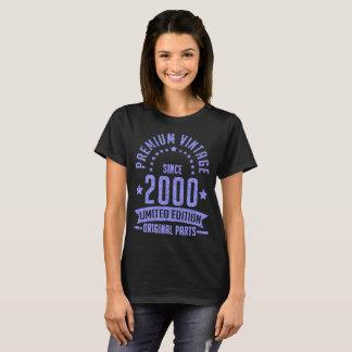 Camiseta edição limitada superior do vintage desde 2000