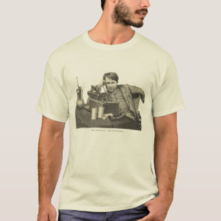 Camiseta Edison no fonógrafo