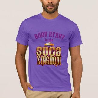 Camiseta (Editável) nascido apronte (no) o reino de Soca
