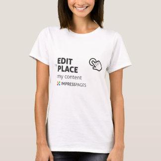 Camiseta Edite no branco do t-shirt dos lugares