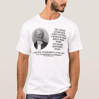 Camiseta Educação instruída para não ter tido o tempo para