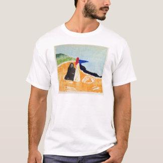 Camiseta Edvard Munch duas mulheres na costa