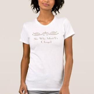 Camiseta Ela que deve ser t-shirt obedecido da coroa do