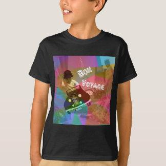 Camiseta Ele viagem demasiado fácil sobre o mundo