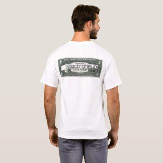 Camiseta Electroneum rasgou a nota de dólar