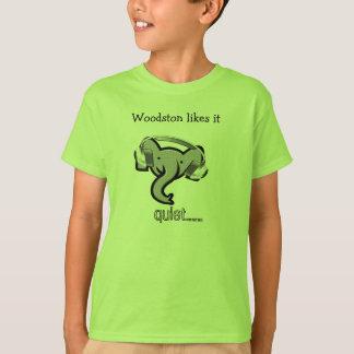 Camiseta elefante com fones de ouvido