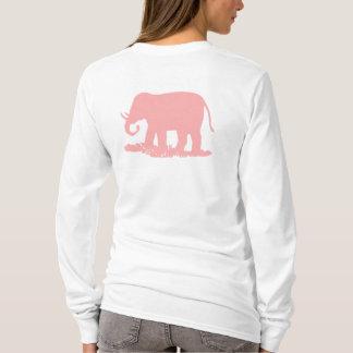 Camiseta Elefante cor-de-rosa