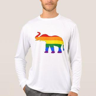 Camiseta Elefante do arco-íris