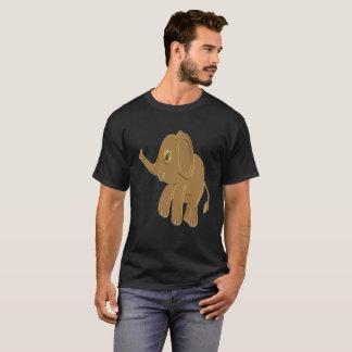 Camiseta Elefante do bebê do ouro que olha no céu