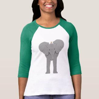 Camiseta elefante e pássaro