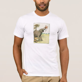 Camiseta Elefante e Poacher na selva