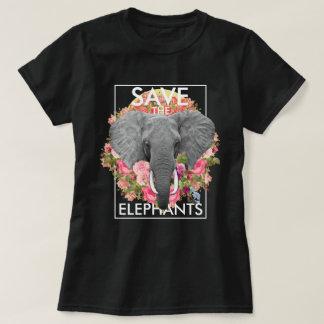 Camiseta Elefante floral