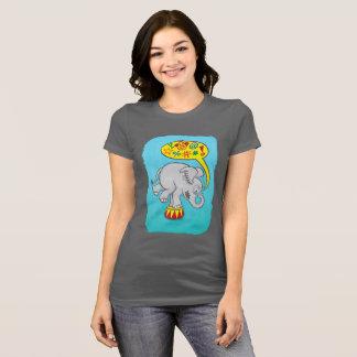 Camiseta Elefante irritado do circo que diz palavras más
