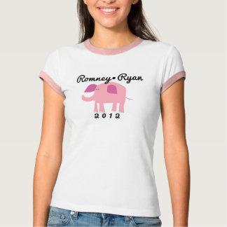 Camiseta Elefante republicano adorável, Romney/Ryan