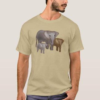 Camiseta Elefantes nos t-shirt selvagens