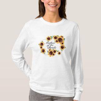 Camiseta ElegantSunflower-Mãe da noiva