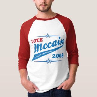 Camiseta Eleição americana 2008 do voto de McCAIN do herói