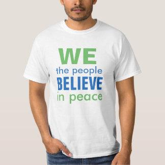 Camiseta Eleição pesarosa da paz