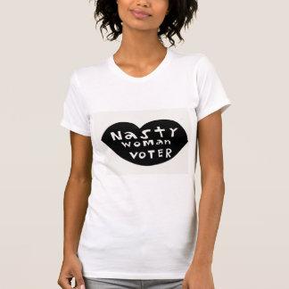 Camiseta Eleitor desagradável da mulher