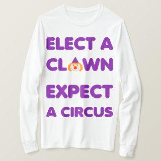 Camiseta Eleja um palhaço esperam um circo anti T do trunfo