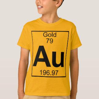 Camiseta Elemento 079 - Au - ouro (cheio)