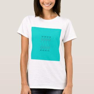 Camiseta Elementos azuis do design