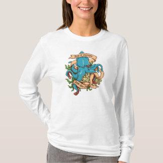 Camiseta Elevação do polvo do monstro de Kraken