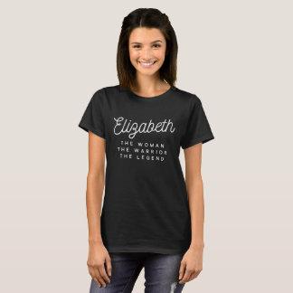 Camiseta Elizabeth a mulher o guerreiro a legenda