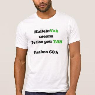 Camiseta elogio do halleluyah você YAH