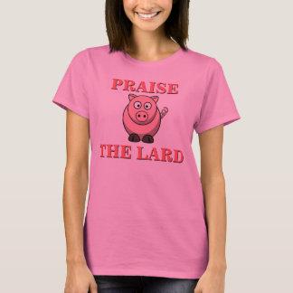 Camiseta Elogio engraçado do bacon da carne de porco o rosa