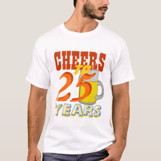 Camiseta Elogios a 25 anos de festa de aniversário da
