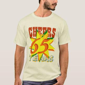 Camiseta Elogios a 65 anos de festa de aniversário