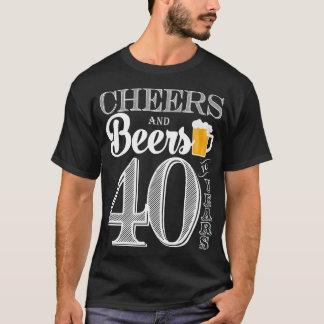 Camiseta Elogios e cervejas aos 40 anos o t-shirt de homens