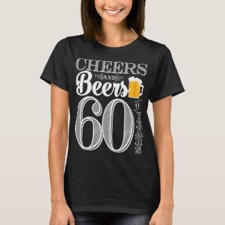 Camiseta Elogios e cervejas aos 60 anos o t-shirt básico de