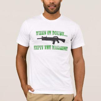 Camiseta Em caso de dúvida… esvazie o compartimento!