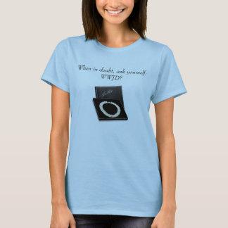 Camiseta Em caso de dúvida, pergunte-se:  WWJD?