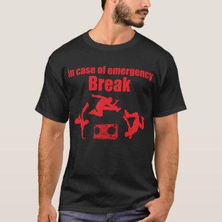 Camiseta em caso de urgência dança de ruptura do anos 80 da