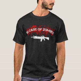 Camiseta Em caso dos zombis