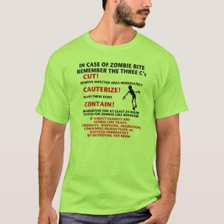 """Camiseta """"EM CASO t-shirt da MORDIDA do ZOMBI"""""""