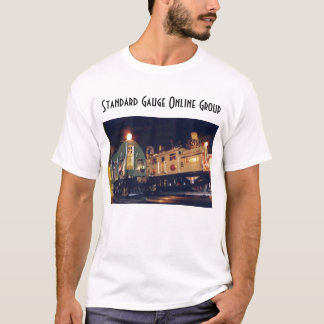 Camiseta em linha do grupo do calibre padrão