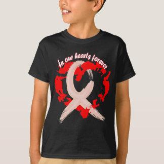 Camiseta Em nossos corações para sempre