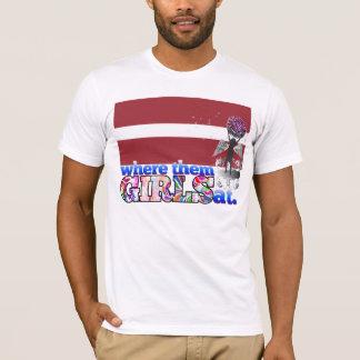 Camiseta Em onde eles meninas letãs?