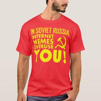 CAMISETA EM RÚSSIA SOVIÉTICA, USO EXCESSIVO DO INTERNET